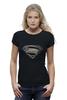"Футболка Wearcraft Premium (Женская) ""Супермен (Superman)"" - супермен, superman"