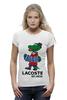 "Футболка Wearcraft Premium (Женская) ""гена лакост"" - lacoste, крокодил гена, лакост"