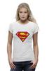 "Футболка Wearcraft Premium ""Супермен"" - супермен, superman, логотип"