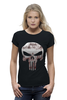 "Футболка Wearcraft Premium (Женская) ""The Punisher"" - skull, череп, касл, marvel, антигерой, палач, punisher, каратель, фрэнк касл"