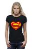 """Футболка Wearcraft Premium (Женская) """"Я люблю Супермена"""" - супермен, комиксы, superman, супергерои"""