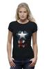 "Футболка Wearcraft Premium (Женская) ""Капитан Америка"" - супергерои, marvel, капитан америка, captain america"
