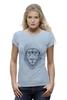 """Футболка Wearcraft Premium """"Лев в шапке"""" - лев, lion, царь зверей, лев в шапке"""