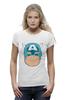 "Футболка Wearcraft Premium (Женская) ""Капитан Америка. Винтаж"" - comics, комиксы, винтаж, marvel, капитан америка, captain america, vintage look"