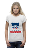"Футболка Wearcraft Premium ""Russia team"" - русский, россия, russia, путин"
