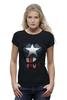 "Футболка Wearcraft Premium ""Капитан Америка"" - супергерои, marvel, капитан америка, captain america"