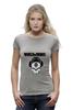 "Футболка Wearcraft Premium (Женская) ""Skull WOT "" - skull, череп, games, игры, игра, game, логотип, world of tanks, танки, wot"