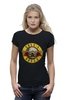 "Футболка Wearcraft Premium (Женская) ""Guns'n'Roses t-shirt"" - old school, guns n roses, axl rose, ганз н розес, аксель роуз"