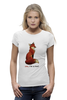"Футболка Wearcraft Premium (Женская) ""Лисичка"" - fox, лиса, лисичка, i am a fox"