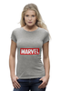 "Футболка Wearcraft Premium (Женская) ""MARVEL"" - comics, комиксы, чудо, будьвтеме"