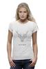 """Футболка Wearcraft Premium """"Dear Deer"""" - рисунок, дизайн, олень, минимализм, рога"""