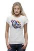 "Футболка Wearcraft Premium ""Цветок"" - арт, в подарок, футболка женская, креативно"