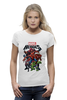 "Футболка Wearcraft Premium (Женская) ""Marvel Heroes"" - comics, marvel, superheroes"