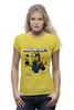 "Футболка Wearcraft Premium (Женская) ""MINIONCRAFT"" - minecraft, майнкрафт, banana, банан, миньон, minion, гадкия я"