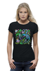 "Футболка Wearcraft Premium ""Русалка и Дракон"" - животные, дракон, растения, хохлома, русалка"