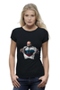 "Футболка Wearcraft Premium (Женская) ""Путин - Супермен"" - супермен, superman, россия, политика, путин, президент, putin, путин арт, патриотические футболки, футболки с путиным"