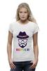"Футболка Wearcraft Premium (Женская) ""хипстер"" - style, очки, hat, шляпа, усы, hipster, shades, mustache"