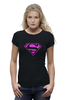 "Футболка Wearcraft Premium ""SuperMan EMO"" - night, superman, pink, эмо, emotion"
