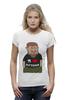 """Футболка Wearcraft Premium (Женская) """"Рамзан Кадыров - Я люблю Путина"""" - любовь, юмор, i love, россия, политика, путин, президент, putin, карикатуры, чечня"""