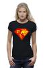 """Футболка Wearcraft Premium (Женская) """"Суперженщина"""" - супермен, супервумен, русская женщина"""