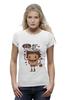 """Футболка Wearcraft Premium (Женская) """" Кекс и кофе. Парные футболки"""" - кофе, для двоих, парные, кекс, с надписями"""