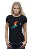 "Футболка Wearcraft Premium (Женская) ""Rainbow Dash Black"" - pony, rainbow dash, mlp, my little pony, пони, brony, мой маленький пони, брони"