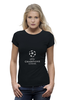 "Футболка Wearcraft Premium ""UEFA  CHAMPIONS LEAGUE"" - футбол, football, uefa, лига чемпионов, league, уефа, champions"