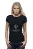 "Футболка Wearcraft Premium (Женская) ""UEFA  CHAMPIONS LEAGUE"" - футбол, football, uefa, лига чемпионов, league, уефа, champions"
