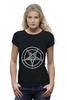 """Футболка Wearcraft Premium (Женская) """"Печать Бафомета #2"""" - дьявол, satan, сатана, devil, посотоне"""