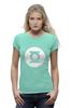"""Футболка Wearcraft Premium (Женская) """"Зелёный Фонарь"""" - the big bang theory, супергерои, шелдон купер, зеленый фонарь, green lantern, футболки шелдона"""