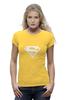 """Футболка Wearcraft Premium (Женская) """"Супермен"""" - супер, supermen, s"""