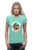 """Футболка Wearcraft Premium (Женская) """"Луиджи (Luigi)"""" - mario bros, братья марио, луиджи"""