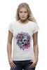 "Футболка Wearcraft Premium ""Череп"" - skull, череп, цветы, roses"