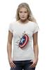 "Футболка Wearcraft Premium (Женская) ""Капитан-Америка"" - комиксы, марвел, капитан америка"