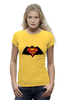 "Футболка Wearcraft Premium (Женская) ""Superman x Batman"" - супермен, batman, superman, бэтман"