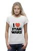 """Футболка Wearcraft Premium (Женская) """"I love Star Wars"""" - фантастика, star wars, культовый фильм, звёздные войны"""