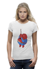 "Футболка Wearcraft Premium (Женская) ""Fat Spiderman"" - spider-man, человек-паук, обжорство, спайдермен"