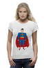 "Футболка Wearcraft Premium (Женская) ""Супермен (Superman)"" - супермен, superman, супергерой, dc"