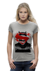 "Футболка Wearcraft Premium (Женская) ""Batman vs Superman"" - супермен, batman, superman, бэтмен, dc"