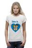 "Футболка Wearcraft Premium (Женская) ""love is..."" - heart, love is"