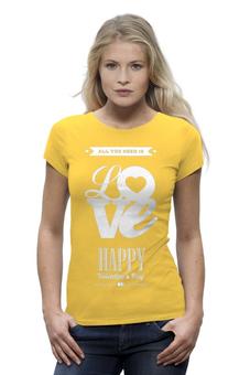 """Футболка Wearcraft Premium """"Любовь (День Святого Валентина)"""" - любовь, день святого валентина, 14 февраля"""