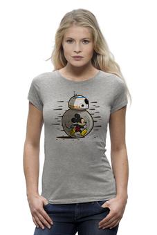 """Футболка Wearcraft Premium (Женская) """"Дроид BB-8 (Звездные Войны)"""" - микки маус, mickey mouse, bb-8"""