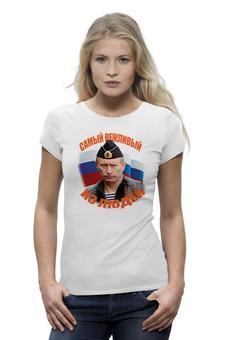 """Футболка Wearcraft Premium """"Футболка с Путиным. Самый вежливый из людей."""" - футболка с путиным"""