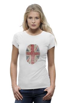 """Футболка Wearcraft Premium """"Футболка с британским флагом """"Отпечаток"""""""" - футболка с британским флагом, купить футболку с британским флагом, футболки с британским флагом фото, футболки с британским флагом картинки, заказать футболку с британским флагом, футболка с британским лагом женская"""