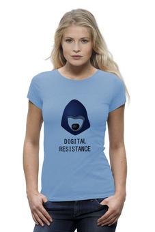 """Футболка Wearcraft Premium """" Цифровое сопротивление"""" - telegram, цифровое сопротивление, digital resistance, телеграм"""