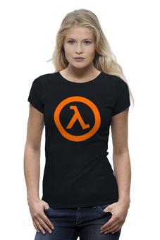 "Футболка Wearcraft Premium (Женская) ""Half-Life"" - half-life, период полураспада, халва, халфа"