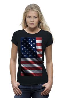 """Футболка Wearcraft Premium """"женская черная футболка стрэйч"""" - оригинально"""