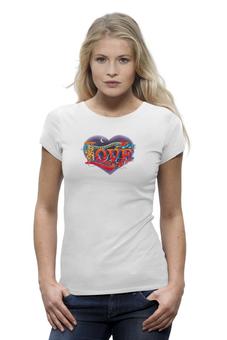 """Футболка Wearcraft Premium """"всё что тебе нужно это LOVE"""" - в подарок, оригинально, футболка женская"""