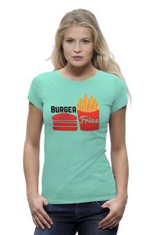 """Футболка Wearcraft Premium """"Фастфуд"""" - картошка, fastfood, бургер, burger, фри"""