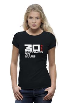 "Футболка Wearcraft Premium (Женская) ""30 Seconds to Mars"" - 30 seconds to mars, 30 stm"